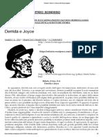Derrida e Joyce _ La dimora del tempo sospeso