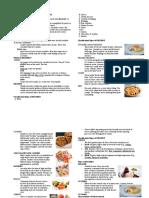 Dessert Handouts