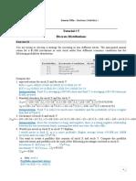 Tutorial 5 Discrete Distributions