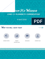 Presentation Deck _ Tourism Fiji COVID-19 Marketing Update 09 April 2020