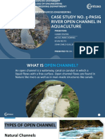 Case Study No. 5-Pasig River Open Channel in Aquaculture