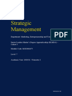 Strategic Management Module guide - Cohort 3