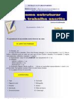 Guião 5- Como estruturar um trabalho escrito