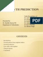 GROWTH PREDICTION III
