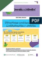 Actividades de 7° grado - situaciones problemáticas multiplicación y división