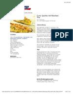 bofrost* Rezepte - Curry Quiche mit Röschen-Trio