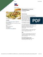 bofrost* Rezepte - Pilzspaghetti mit Spinat-Kürbiskernpesto