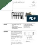 ABB publication 1MRK509015-BEN C en High Impedance Differential Relay RADHA