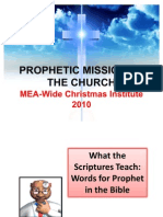 Prophetic Mission of the Church