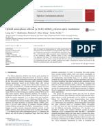 2014 OC - Liang Cao - Hybrid amorphous silicon (a-Si-H)–LiNbO3 electro-optic modulator