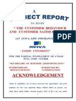 Project of Bba(Aviva Life Insurance)