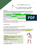 Física (análise dimensional, resolução comentada da aval diag)