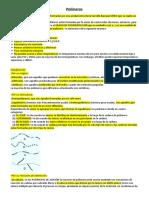 Polímeros quimica