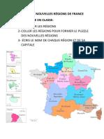 LA CARTE DES NOUVELLES RÉGIONS DE FRANCE
