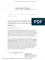 """Vestigios del Jaleo Extremeño en el cante de Juan Mojama"""""""