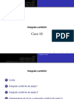 C10.Integrale curbilinii