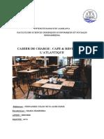 cahier de charge Cafe & Restaurant l'Atlantique