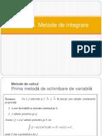 C5 Primitive. Metode de Integrare