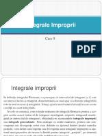 C9. Integrale Improprii