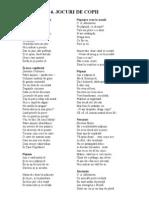 poezii pentru  copii JOCURI DE COPII
