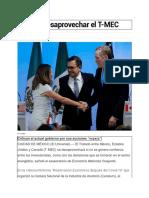 27.05.2020 Pide No Desaprovechar El T-MEC