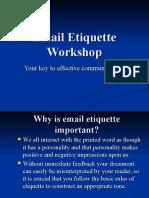 Email Ettiquete workshop
