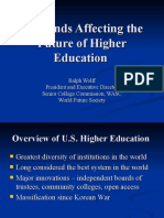 10 Trends Impacting Higher Education- WFS 7-09