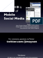 2010 the Year of Mobile Social Media