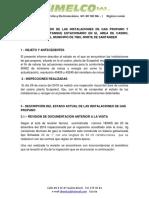 INFORME DE ESTADO DE LAS INSTALACIONES DE GAS PROPANO Y VALORACIÓN DEL TANQUE ESTACIONARIO EN EL AREA DE CASINO