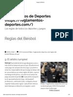 Béisbol - El Arbitro