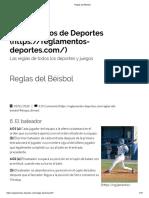 Béisbol - El Bateador