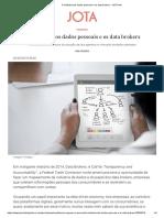 A indústria dos dados pessoais e os data brokers - JOTA Info