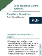 Medidas de Tendencia Central y Variación. Estadística Descriptiva