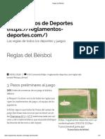 Béisbol - Primeros Pasos