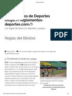 Béisbol - La Bola en Juego