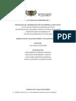 EJERCICIOS DE TASA DE INTERES Y ECUACION DE VALOR.