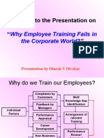 Why Employee Training Fails