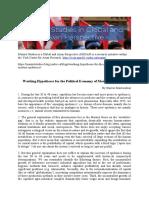 Political Economy of Epidemics