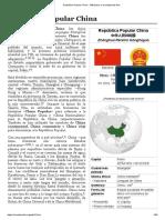República Popular China - Wikipedia, la enciclopedia libre