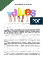 Valori si importanta lor intr-o companie