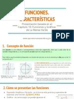 funciones. caracteristicas