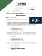EvFINAL- Sistematizacion del proceso educativo