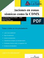 Cimentaciones en zonas sísmicas como la CDMX.