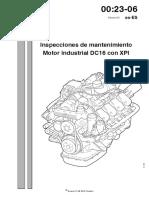 Inspeccion de Mantenimiento de Motor Dc16 Con Xpi