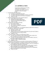 EXAMEN FISICA Y QUÍMICA 3º ESO