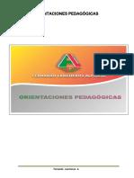 Orientaciones pedagogicas 2015