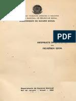 Anteprojeto Lei Organica Previdencia Social