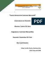 Teoría general de contrato mercantil - Sara Castro Chi