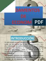 UNIDAD I FUNDAMENTOS DE ECONOMIA CAP I clase 1