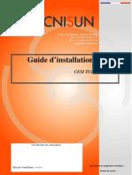 TECNISUN-CESI SUN 110-Guide d'Installation Rapide-141010